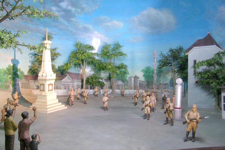 Diorama kedatangan Jepang ke Indonesia pada 1942 di Museum Vredeburg Yogyakarta.