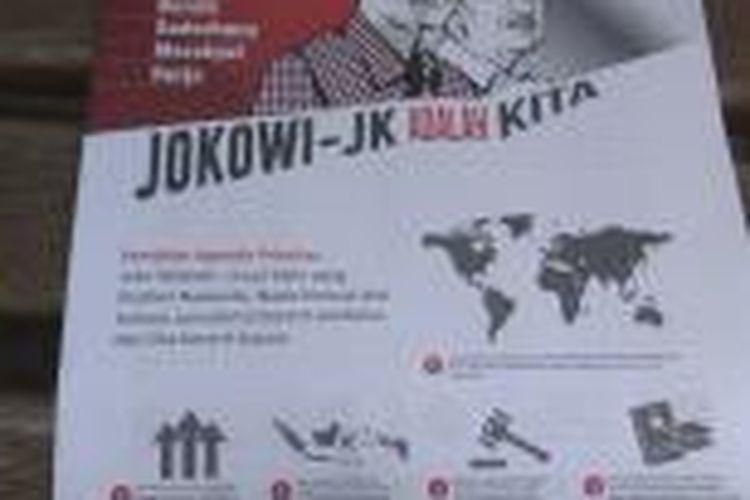 Tabloid 'Jokowi Adalah Kita' yang rencananya akan dibagikan oleh tim relawan Jokowi-JK ke posko-posko relawan sekitaran Jakarta.