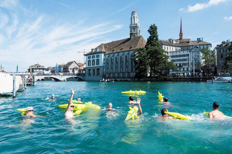 Salah satu perairan yang mengelilingi kota Zurich di Swiss