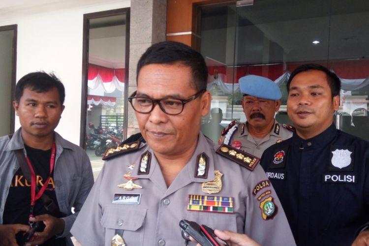 Kabid Humas Polda Metro Jaya Komisaris Besar Raden Prabowo Argo Yuwono saat ditemui di Mapolresta Depok, Senin (7/8/2017).
