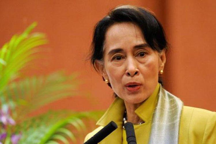 Pemimpin pro-demokrasi Myanmar, Aung San Suu Kyi.