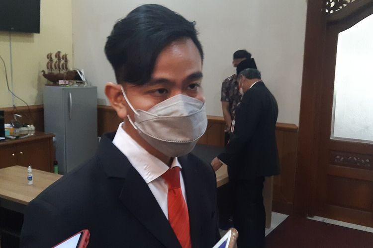 Wali Kota Solo, Gibran Rakabuming Raka di Balai Kota Solo, Jawa Tengah, Jumat (1/10/2021).