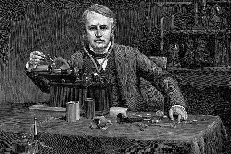 Thomas Alva Edison dan penemuannya, fonograf