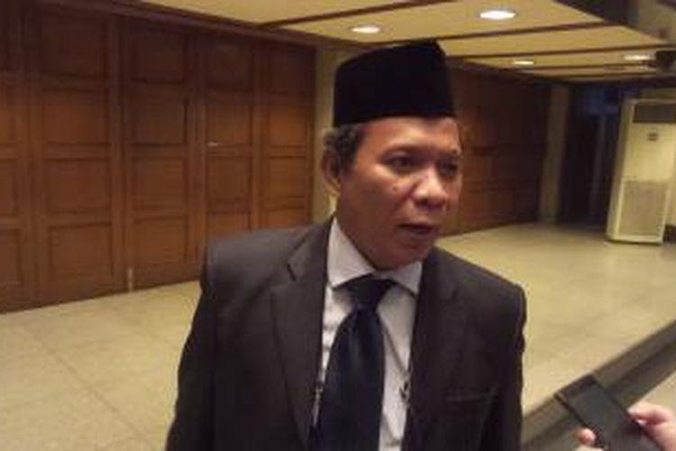Mantan Kepala Dinas Tata Air DKI Jakarta Tri Djoko Sri Margianto usai acara pelantikan pejabat penggantinya, di Balai Kota, Kamis (3/12/2015)