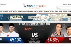 Hasil Hitung Cepat, Jokowi-JK Unggul 52,65 Persen