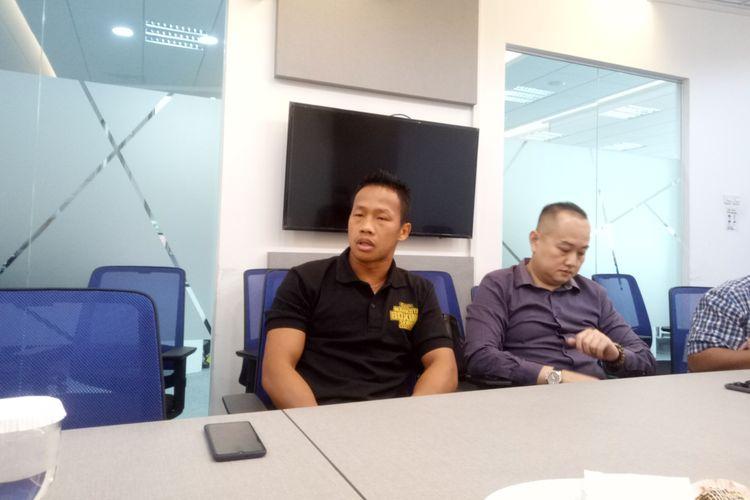 Petinju Indonesia, Daud Yordan saat berkunjung ke Menara Kompas, Jakarta, Jumat (22/11/2019).