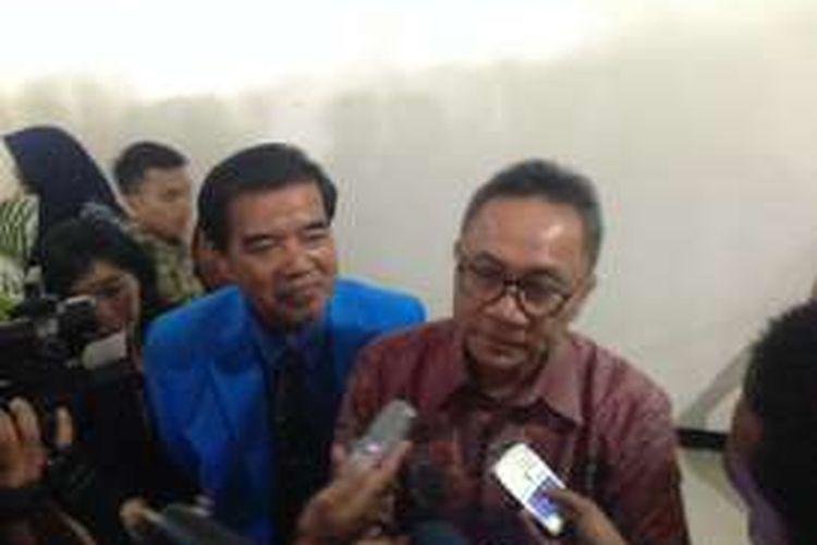 Ketua MPR RI Zulkifli Hasan, seusai sosialisasi empat pilar di Semarang, Senin (9/5/2016)