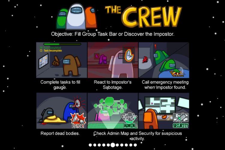 Misi seorang crewmate di Among Us.