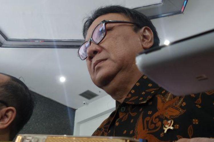 Menteri Dalam Negeri Tjahjo Kumolo di Gedung Ombudsman, Jakarta, Kamis (16/2/2017).