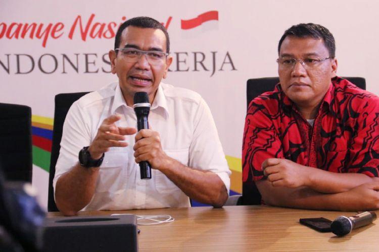 Juru Bicara Tim Kampanye Nasional Joko Widodo-Maruf Amin, Arya Sinulingga di rumah Cemara, Jakarta, Jumat (23/11/2018).