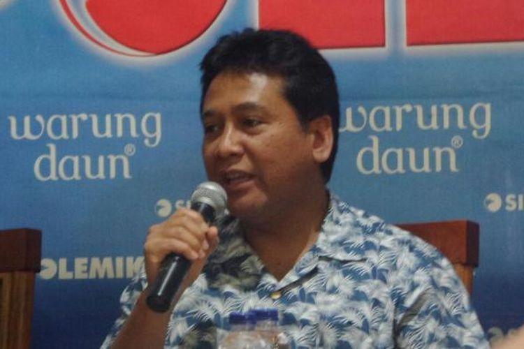 Ketua Umum Asosisasi Pengusaha Indonesia (Apindo), Hariyadi B Sukamdani dalam acara diskusi di Jakarta,