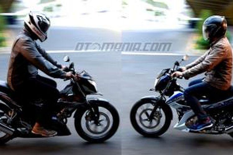 New Honda Sonic 150R dan Suzuki Satria FU 150.