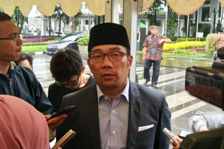 Wali Kota Bandung Ridwan Kamil saat ditemui di Balai Kota Bandung, Jalan Wastukancana, Kamis (23/3/2017)