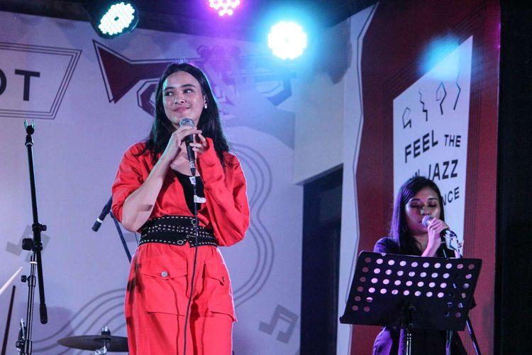 Artis Mawar De Jongh tampil di Java Jazz Festival 2020 yang digelar di JIExpo, Kemayoran, Jakarta Pusat, Jumat (29/2/2020).