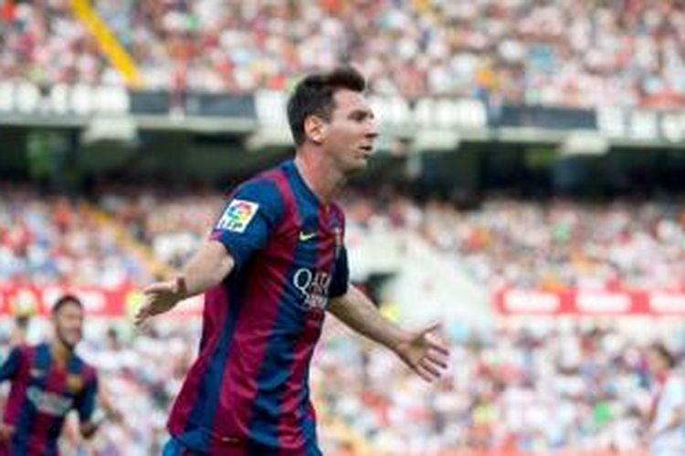 Striker Barcelona asal Argentina, Lionel Messi.