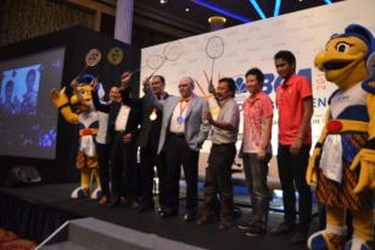 Konferensi pers BCA Indonesia Open Super Series Premier 2014,  Senin (02/06/2014)