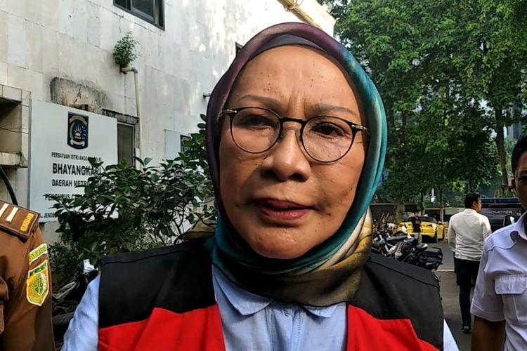 Terdakwa penyebar berita bohon atau hoaks Ratna Sarumpaet di Polda Metro Jaya, Selasa (28/5/2019)