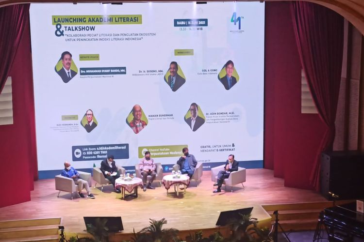 Launching Akademi Literasi di Jakarta, Rabu, (16/6/2022).
