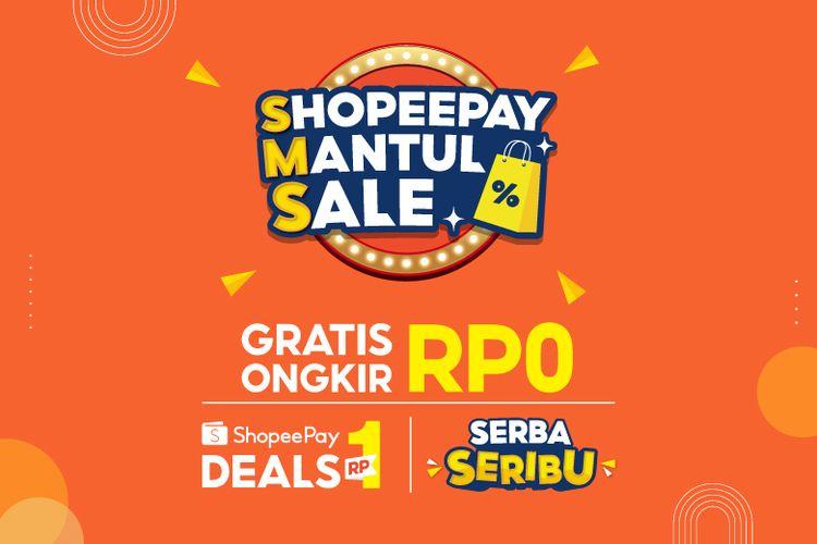 Tiga promo menarik di ShopeePay Mantul Sale (SMS) berlaku mulai dari Kamis (25/2/2021) hingga Sabtu (27/2/2021).