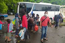 102 Pengungsi Korban Gempa Sulbar Dipulangkan ke Jatim dan Jateng
