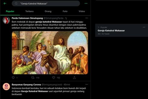 Terjadi Ledakan Bom Bunuh Diri, Gereja Katedral Makassar Trending di Twitter
