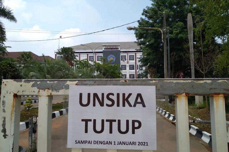 Sebanyak 25 orang terkonfirmasi positif dari Klaster Universitas Singaperbangsa Karawang (Unsika).