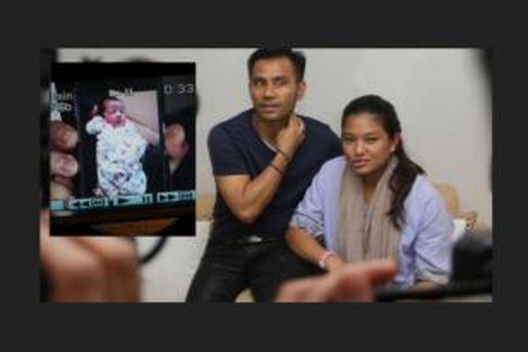 Judika dan Duma Riris serta buah hati mereka, Cleo Deora Boru Sihotang (insert kiri).