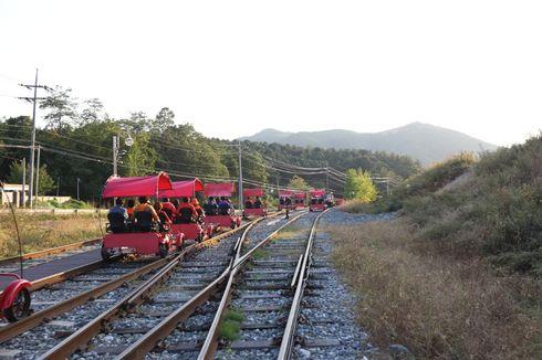 Wisata ke Korea, Jangan Lupa Gowes di Rel Kereta di Tengah Bukit