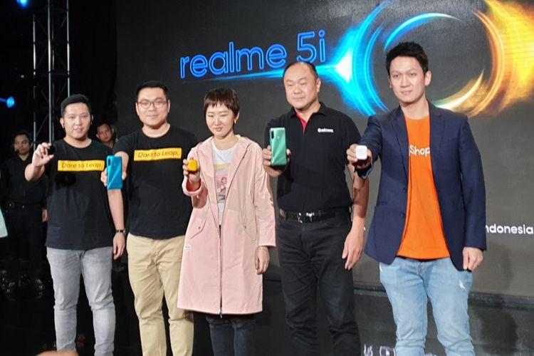 Peluncuran Realme 5i di Jakarta, Rabu (15/1/2020)
