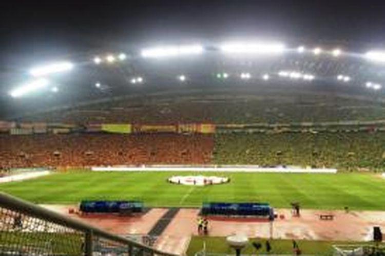 Suasana Stadion Shah Alam saat menggelar laga final Piala Malaysia 2015 antara Selangor FA dan Kedah FA, Sabtu (12/12/2015)