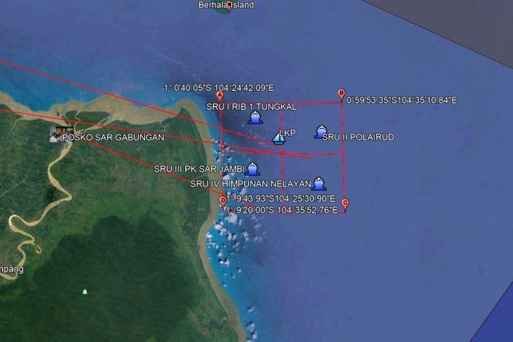 Lokasi kapal tenggelam