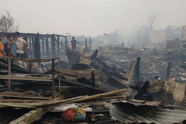 80 Kepala Keluarga di Kecamatan Gandus Palembang Kehilangan Rumah Akibat Kebakaran Selasa