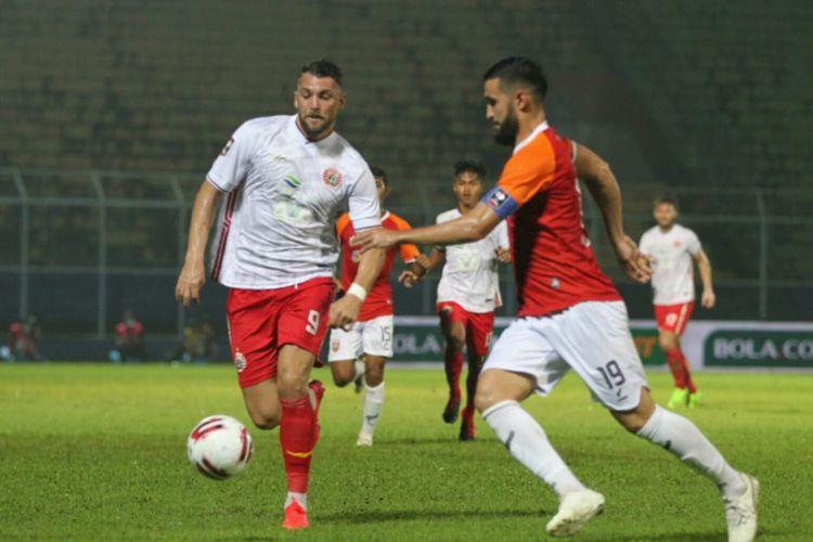 Duel Borneo FC vs Persija pada laga kedua Grup B Piala Menpora 2021 di Stadion Kanjuruhan, Malang, Sabtu (27/3/2021).