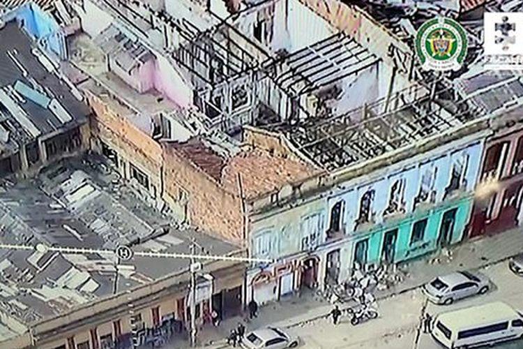 Pemandangan udara dari gedung tempat tubuh Lynda Michelle Amaya ditemukan