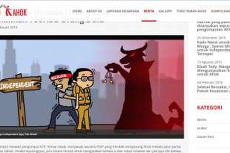 Karikatur di laman www.temanahok.com.