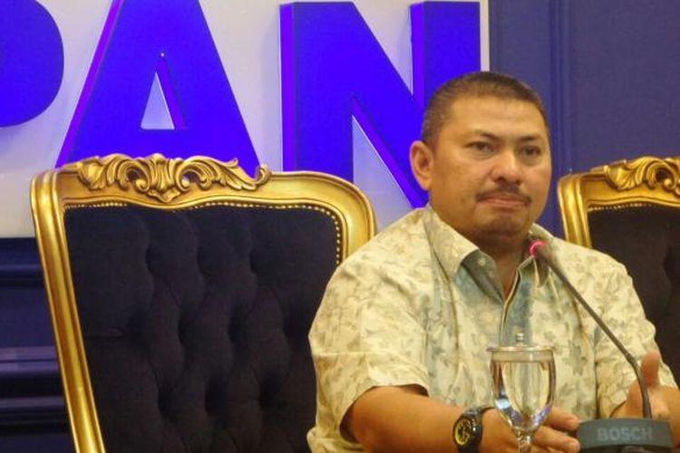 Wakil Ketua Komisi III dari Fraksi Partai Amanat Nasional (PAN), Mulfachri Harahap di Kompleks Parlemen, Senayan, Jakarta, Rabu (8/2/2017).