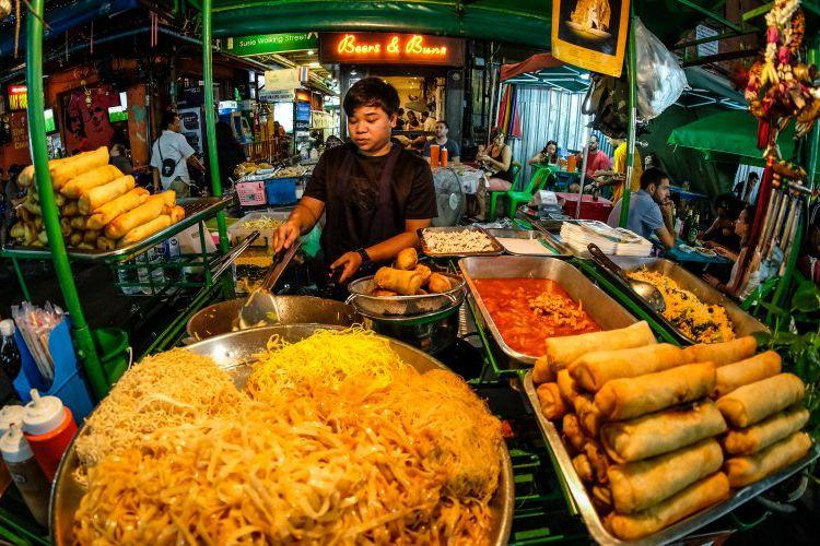 Makanan jalanan di Bangkok, Thailand