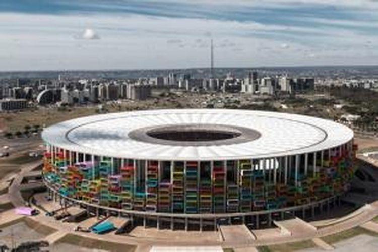 Tampilan Estadio Nacional jika beralih fungsi menjadi hunian. Ide ini disebut dengan Casa Futebol.