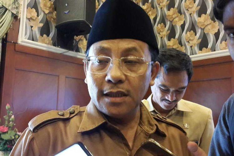 Wali Kota Malang, Sutiaji saat diwawancara di Balai Kota Malang, Selasa (3/3/2020).