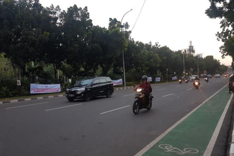Jalan Medan Merdeka Selatan, Jakarta Pusat, pada Selasa (14/1/2020).