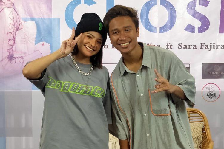 Sara Fajira dan Evan Lanell di kawasan Cipete, Jakarta Selatan, Senin (15/3/2021).