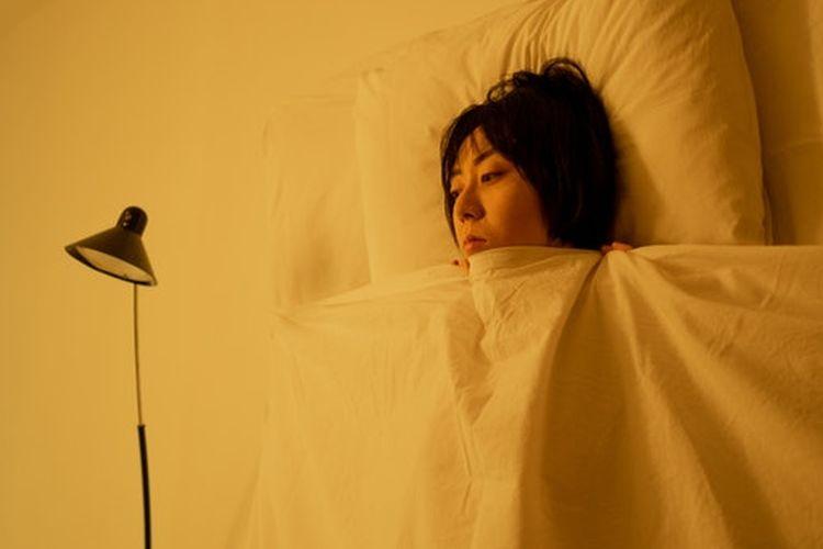 Ilustrasi susah tidur.
