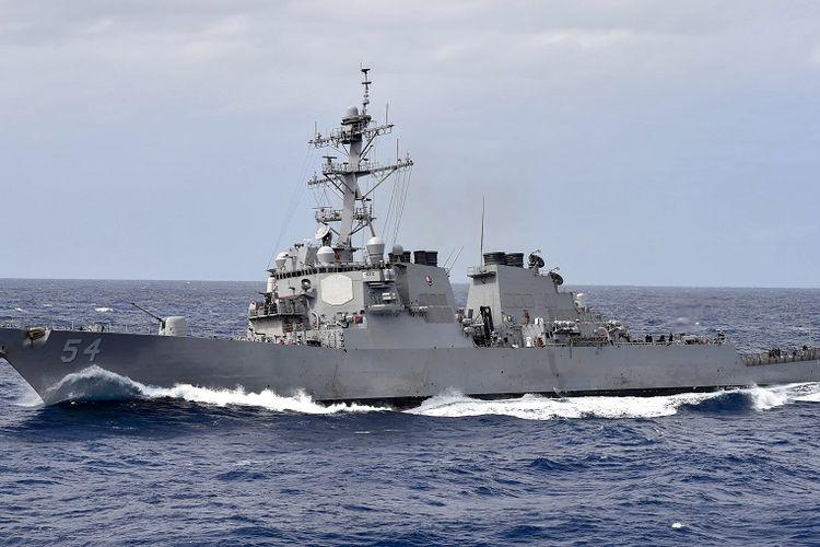 Kapal perusak berpeluru kendali milik Angkatan Laut AS, USS Curtis Wilbur