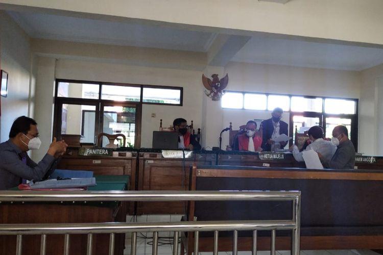 Sidang gugatan kepemilikan sertifikat tanah ganda di PN Semarang, Rabu (21/4/2021)