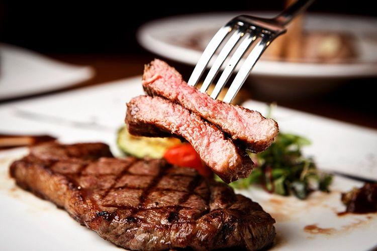 Ilustrasi steak.