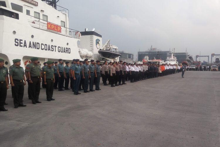 Apel kesiapan penyelenggaraan angkutan laut mudik 2018 di terminal penumpang Tanjung Priok, Jakarta Utara, Kamis (31/5/2018).