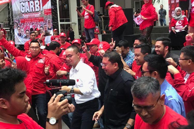 Sejumlah politisi terlihat menghadiri acara deklarasi organisasi masyarakat Gerakan Arah Baru Indonesia (GARBI) DKI Jakarta, di Epicentrum Walk, Jakarta Selatan, Minggu (3/3/2019).
