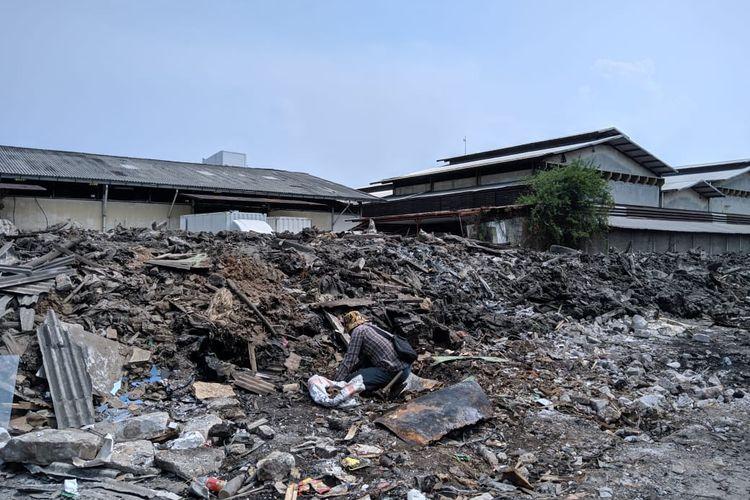 Kondisi rumah-rumah di Sunter Agung Perkasa pasca penggusuran 10 hari lalu, Minggu (24/11/2019)