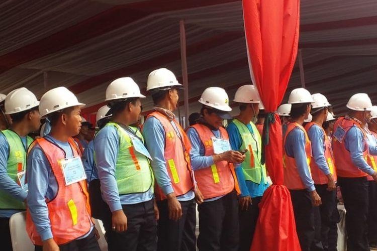 Ilustrasi tenaga kerja konstruksi.