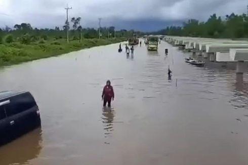 Banjir Rendam Palangkaraya, Mobil dan Truk Terjebak di Jalan Trans Kalimantan